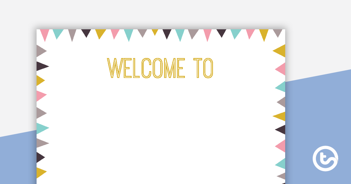 Pastel Flags – Welcome Sign and Name Tags