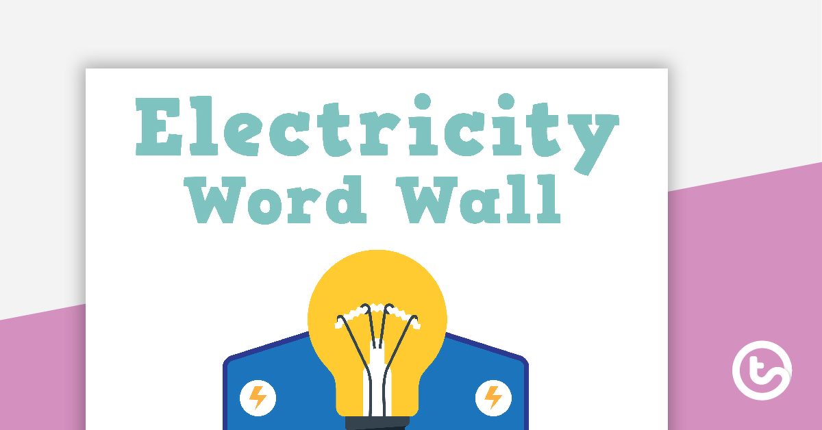 Electricity Word Wall Vocabulary