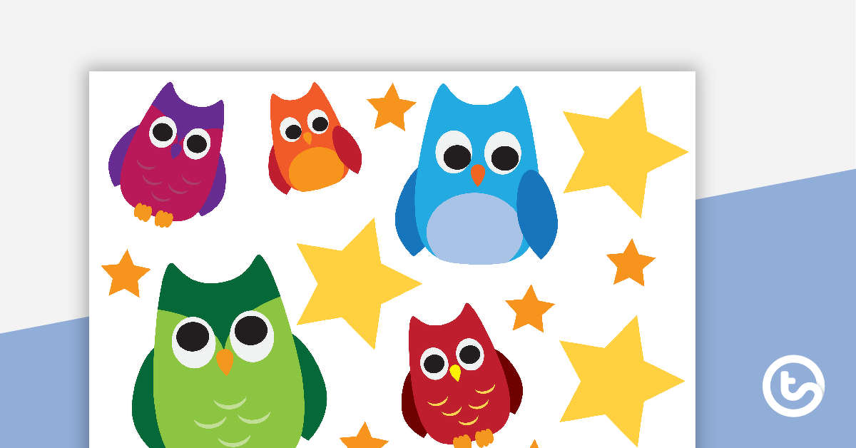 Class Welcome Sign - Owls (Version 2)