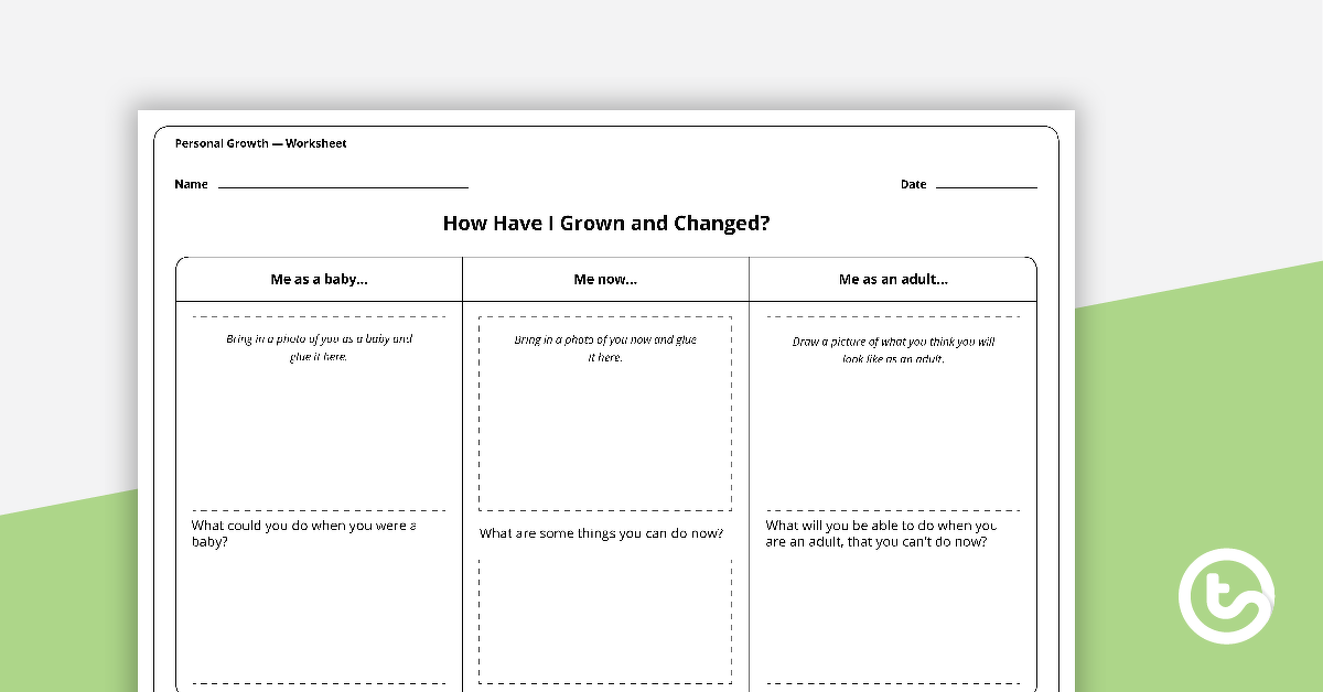 Personal Growth Worksheets