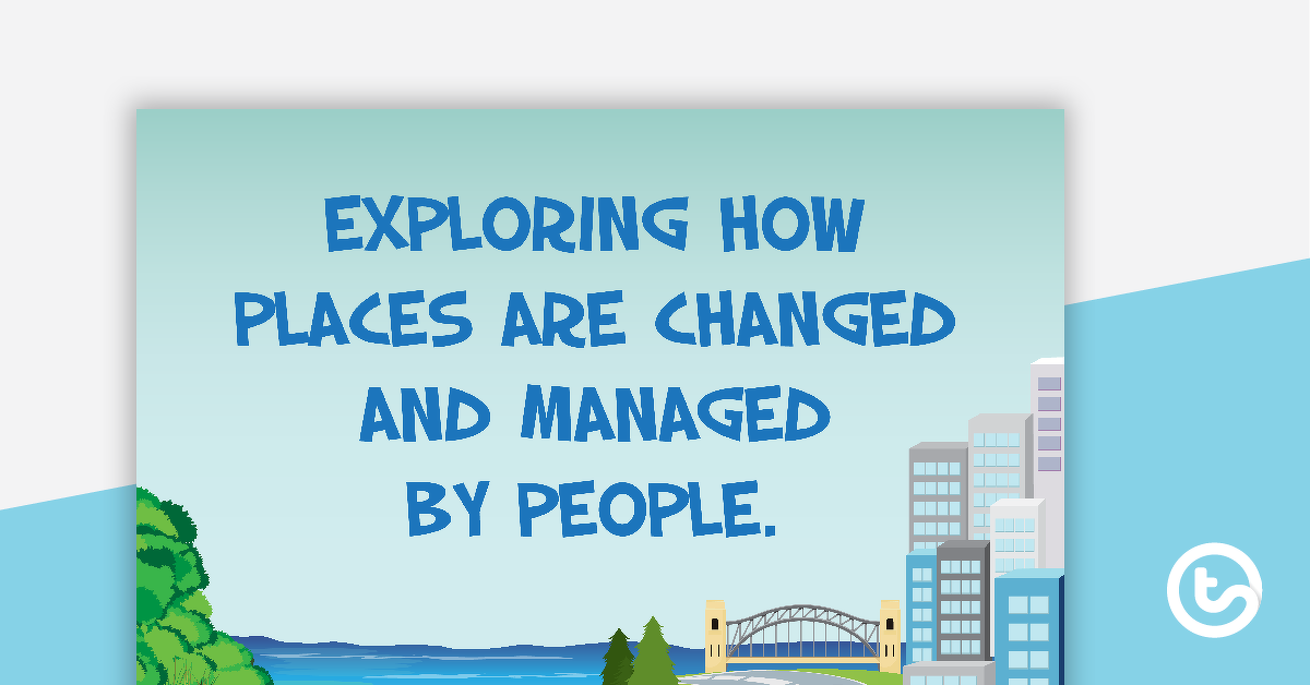 Changing and Managing Places - Geography Word Wall Vocabulary