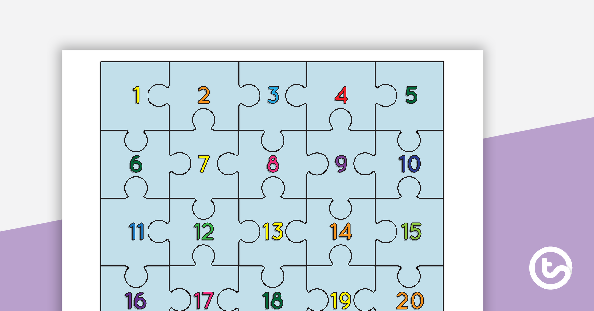 1 to 20 Number Puzzle Teaching Resource – Teach Starter