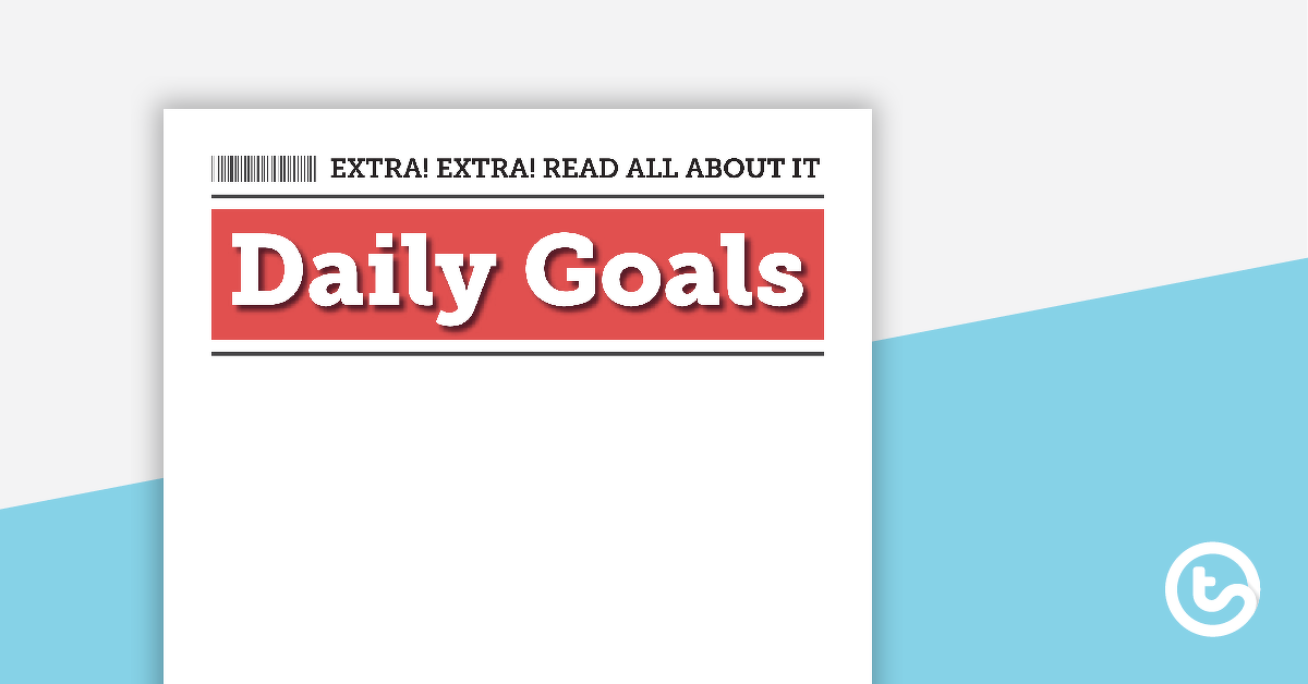 Journalism and News – Daily Goals