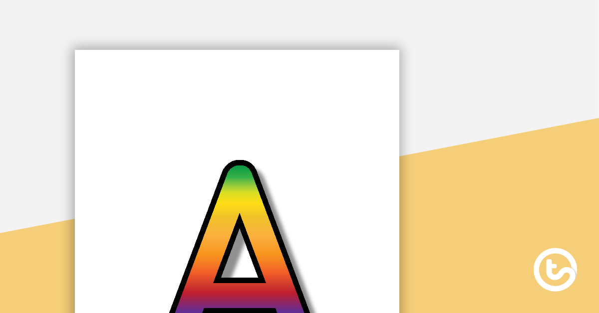 Rainbow – Letter, Number, and Punctuation Set
