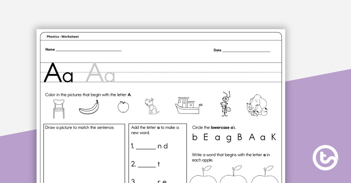 Letters A–Z Activity Worksheets Teaching Resource Teach Starter