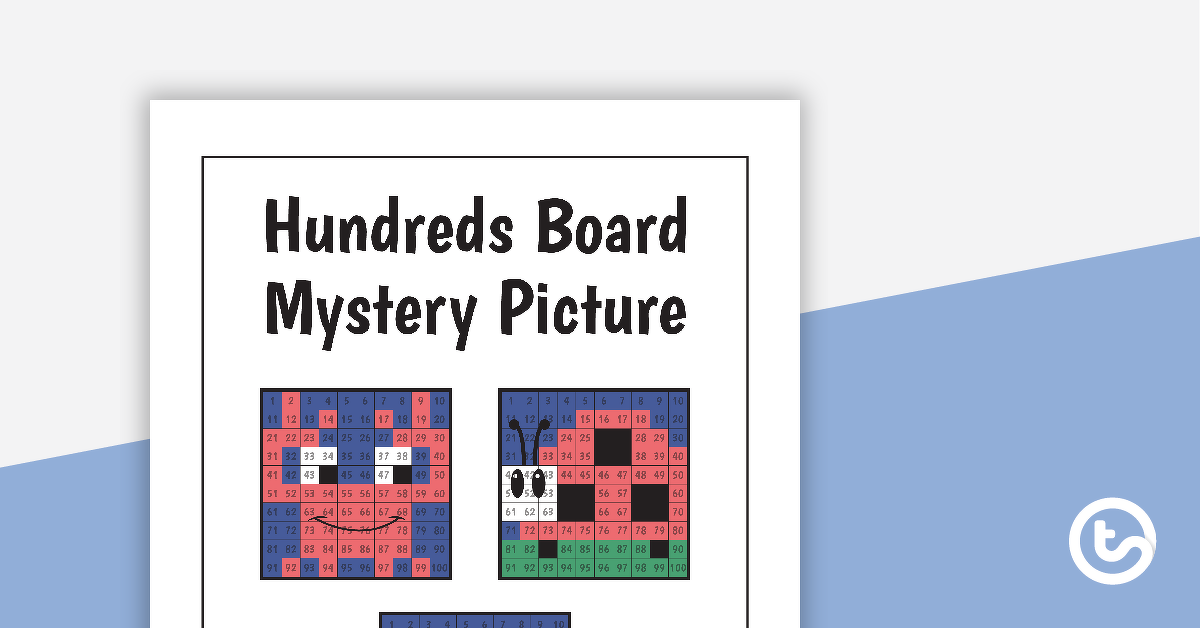 Hundreds Board Mystery Picture Subtraction Task Cards