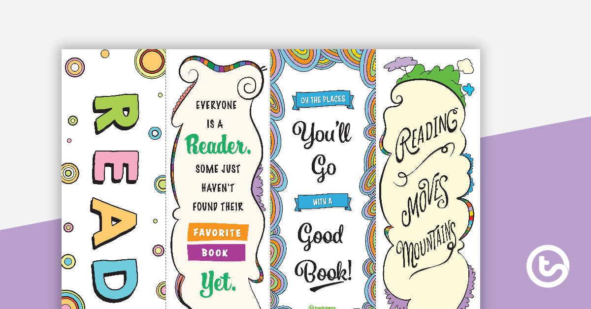 Reading Inspired Bookmarks