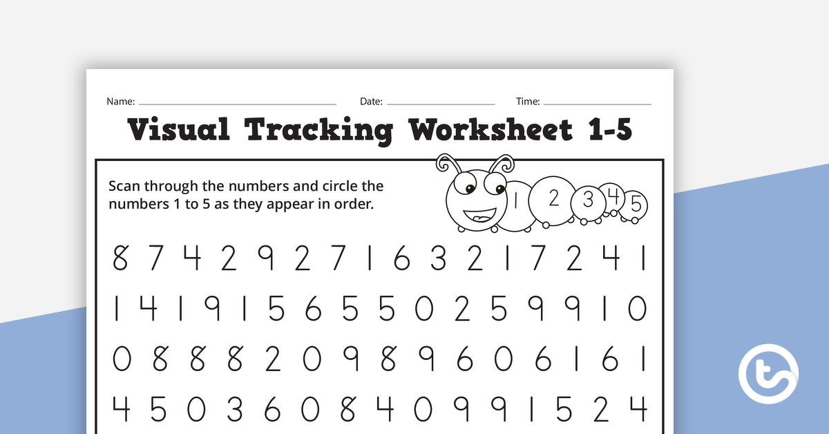 Visual Tracking - Letters And Numbers Teaching Resource Teach Starter