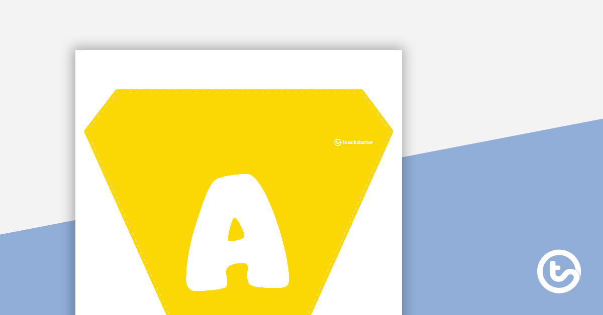 Plain Yellow - Letters and Number Bunting