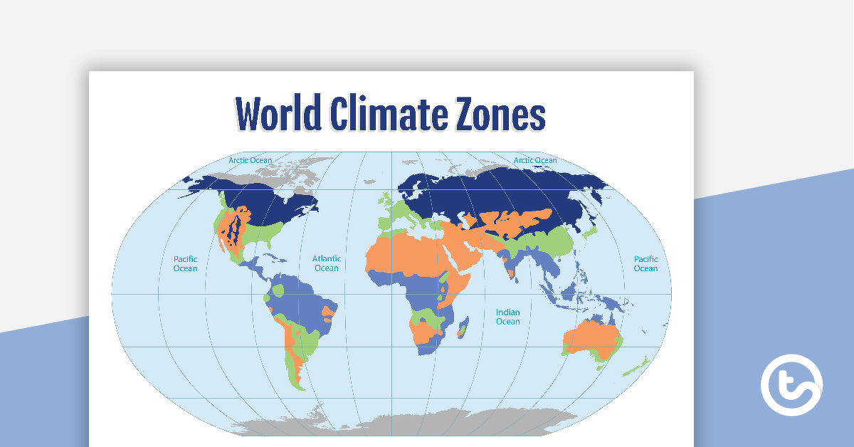 Map of the World's Climate Zones Teaching Resource | Teach Starter