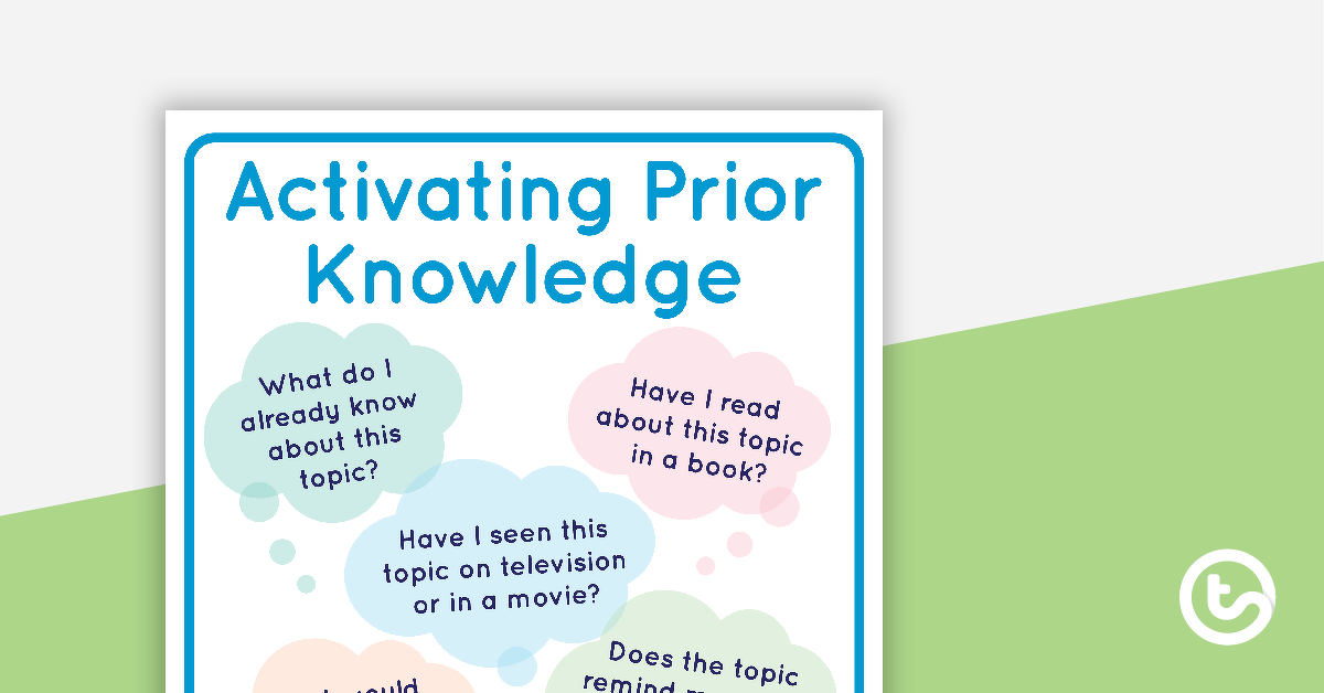 Activating Prior Knowledge - Comprehension Strategy Task ...  Prior Knowledge Reading