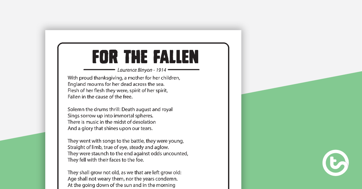 For The Fallen - Poem